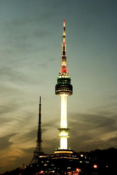Seoul Namsan Tower By Night  Frenchie Diary