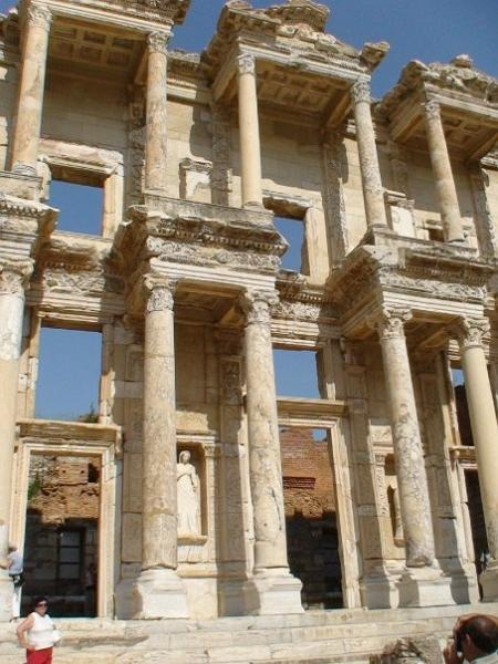 When was the Celsus library in Ephesus built?