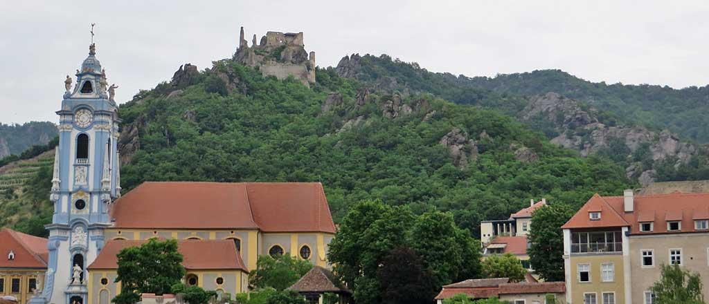 Durnstein Abbey and Burgruine Castle ruin, Austria
