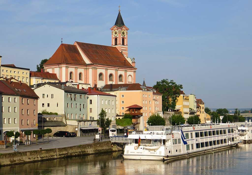 St Paul Church on the Danube, Passau, Germany