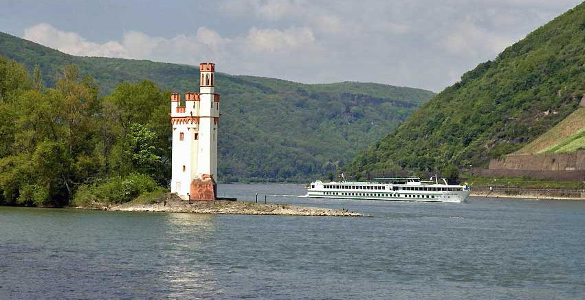 Mouse Tower in the Rhine River, Germany