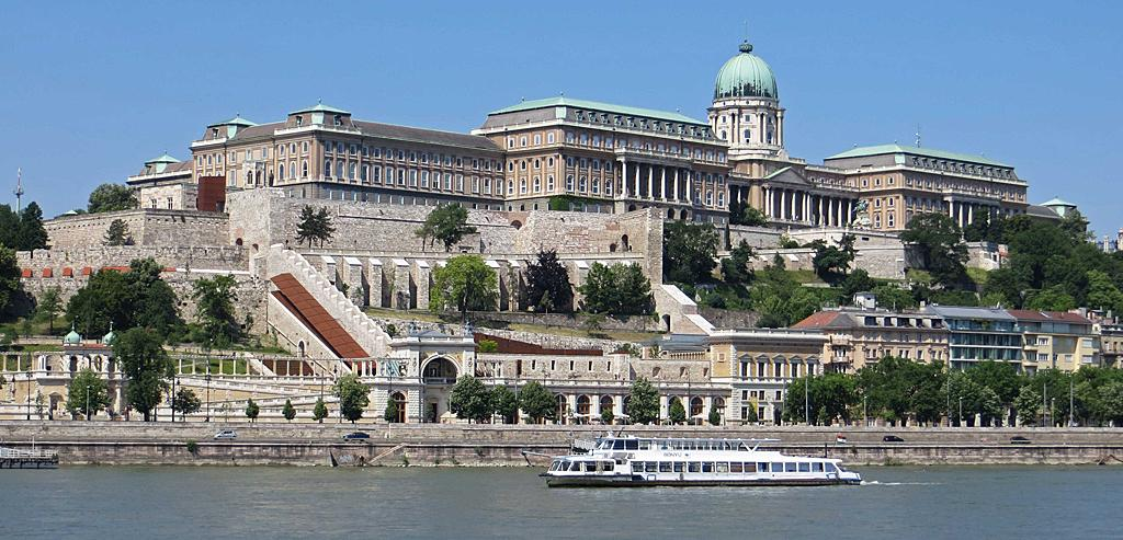 Castle Hill and the Danube, Budapest, Hungary