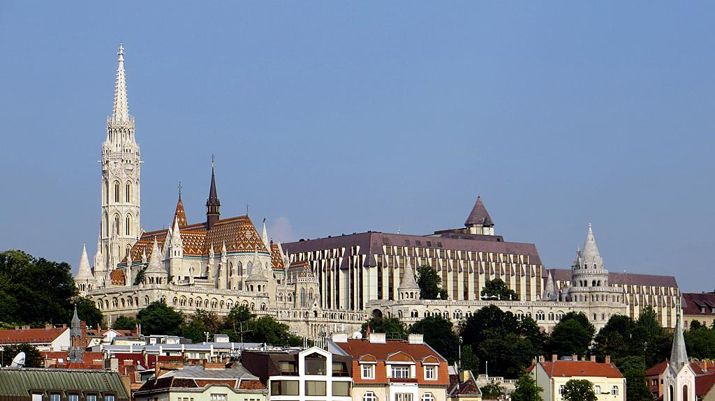 Matthias Church, Fisherman's Bastion, Danube, Budapest, Hungary