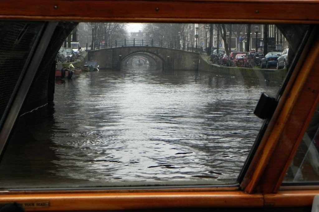 Seven Bridges view, Canal cruise, Amsterdam, Netherlands