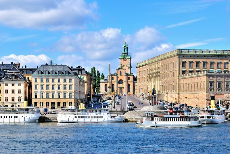 Stockholm Quay and Stockholm Cathedral, Sweden