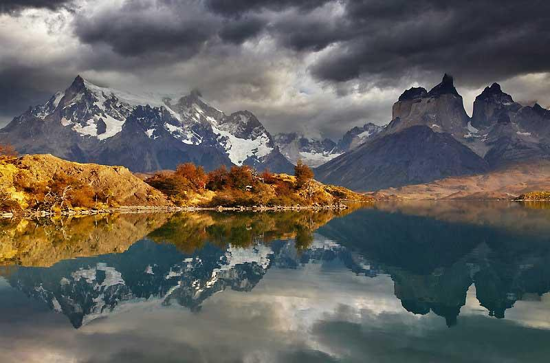 Lake Pehoe, Torres del Paine, Patagonia, Chile